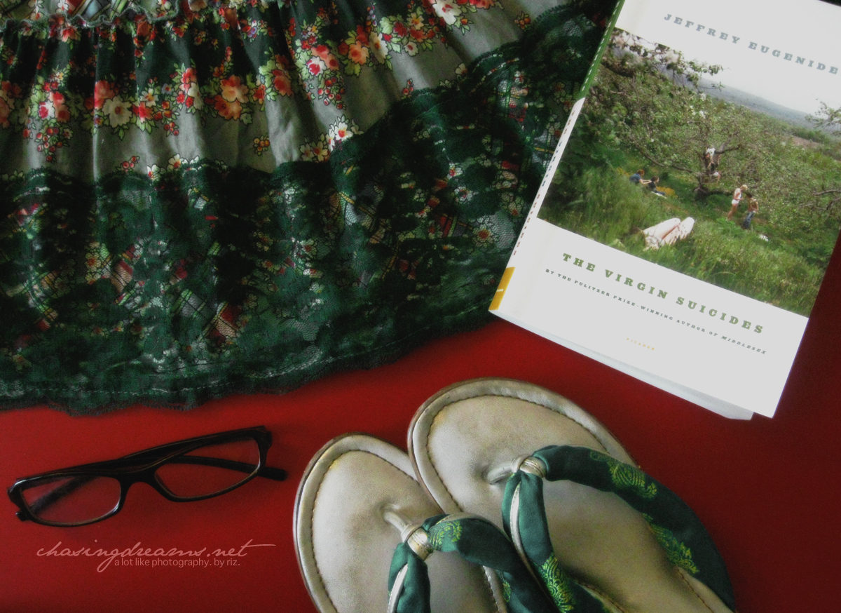 Thrifted Dress, A Good Book, and Comfy Slippers