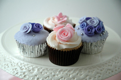 Purple Pink Cupcake | Posted by Onlycupcakes.tumblr.com