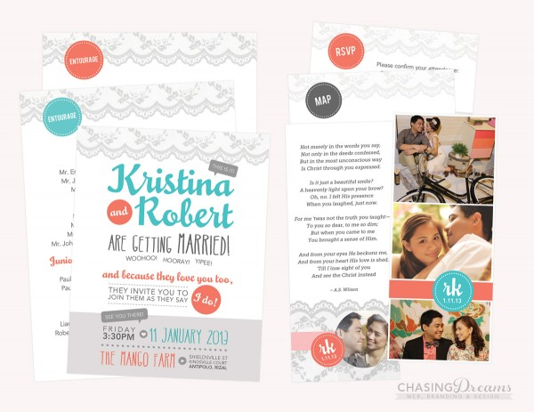 Robert & Tin's Official Wedding Invitation Mockup