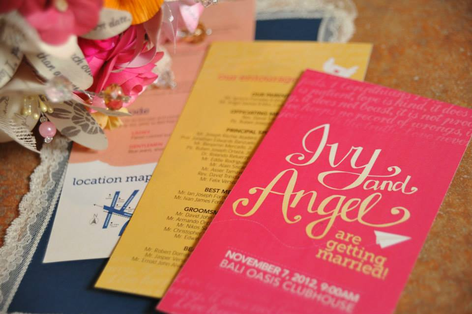 Ivy and Angel's Handdrawn Wedding Invitations