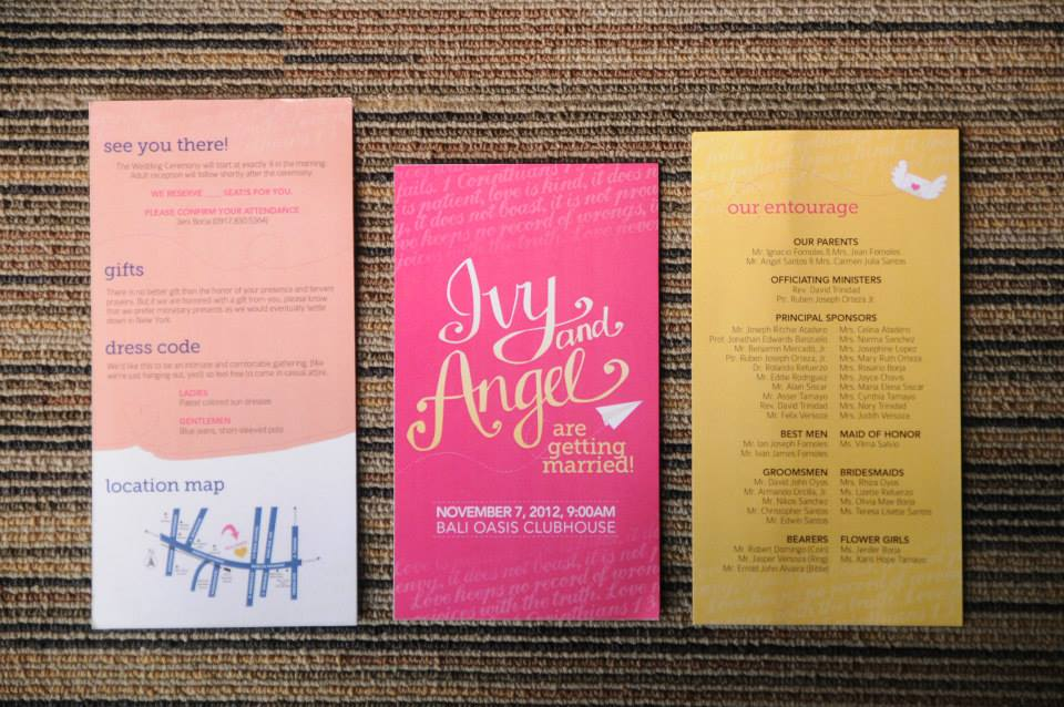 Ivy & Angel's Wedding Invitations