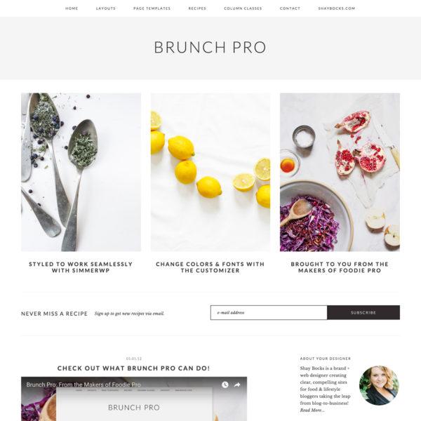 Studiopress Sites: Brunch Pro