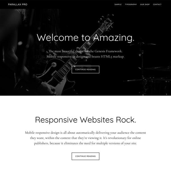 Studiopress Sites: Parallax Pro