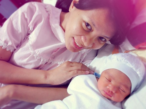 Isaac with his Mom