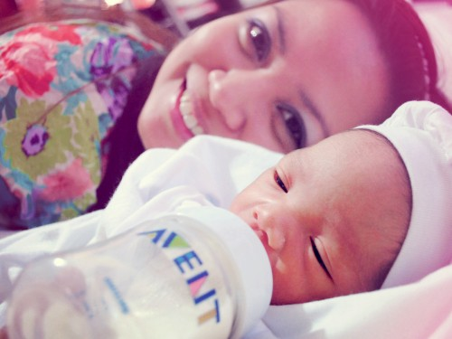 Isaac with Tita Riz :)