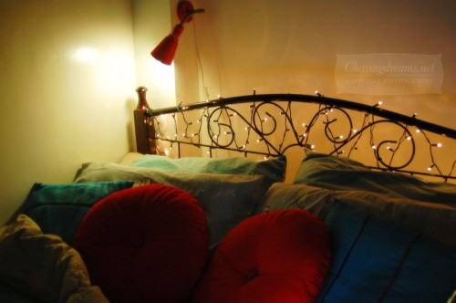 . Yay Christmas Lights  On My Bed