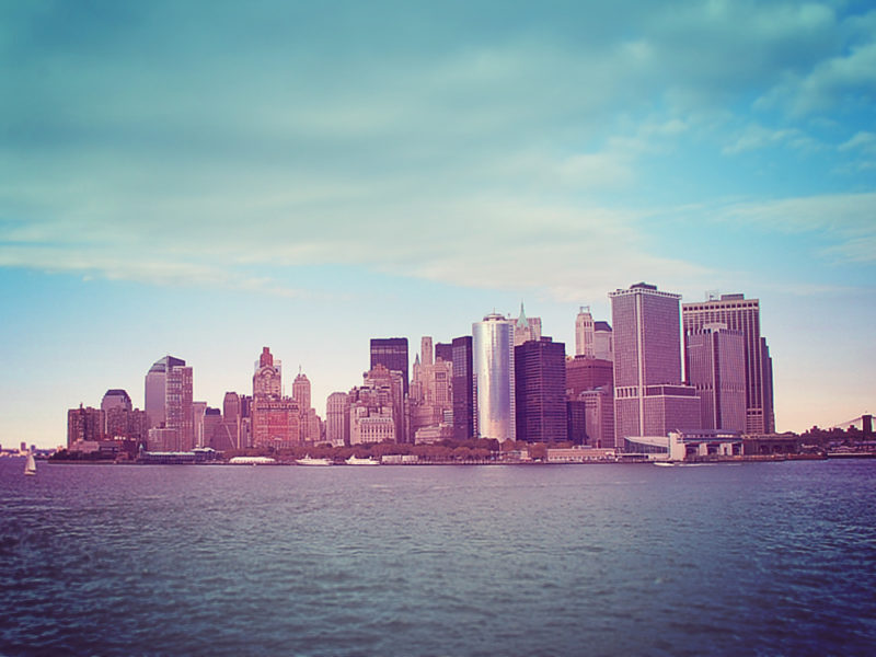Missing the Twin Towers, view from Staten Island Ferry