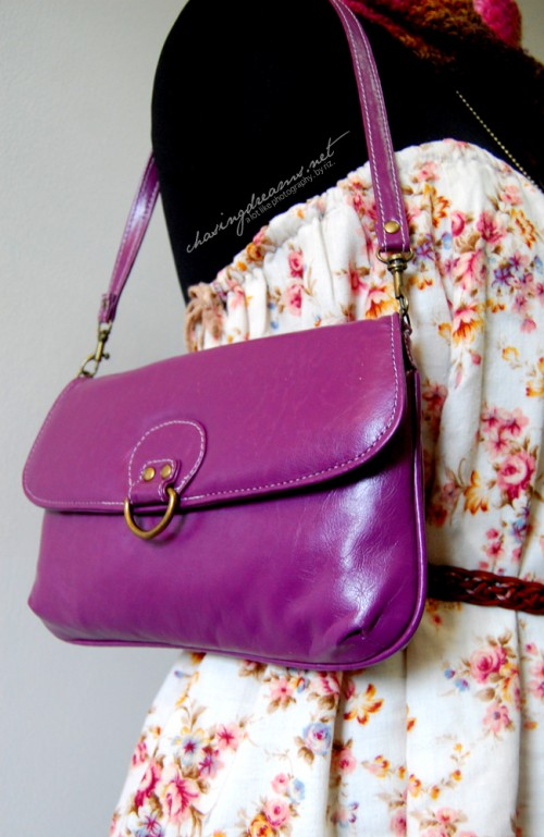 Purple Bag from Folded and Hung